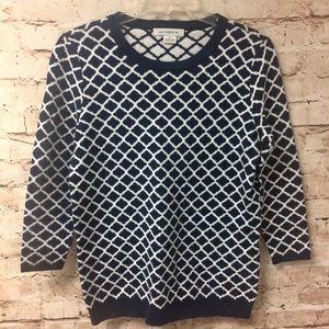 Liz Claiborne 3/4 Sleeve Pullover Sweater Small